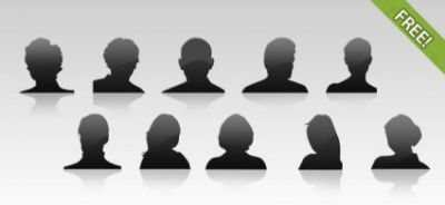 Free psd People PSD file  10 Free Avatar Icons