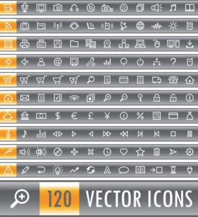 Free vector Vector icon  120 simple and practical icon vector