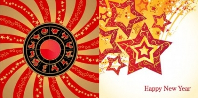 Free vector Vector misc  12 new year zodiac wheel star theme vector