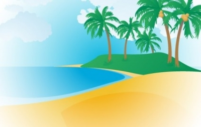 Free vector Vector misc  148-Tropical Beach