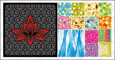 Free vector Vector flower  14, fashion pattern tiled background material vector
