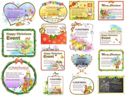 15 lovely christmas decorations vector Free vector 15.62MB