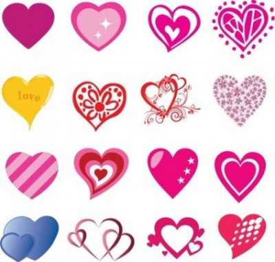 Free vector Vector Heart  16 Free Heart Shaped Vectors for Valentines Day