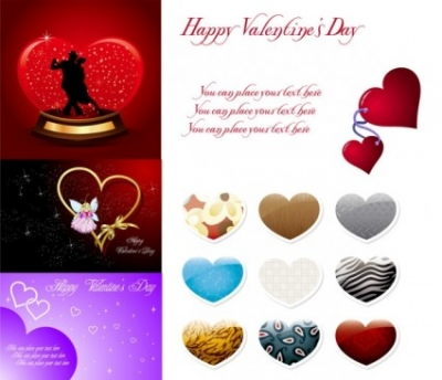 Free vector Vector Heart  2010 valentine day vector
