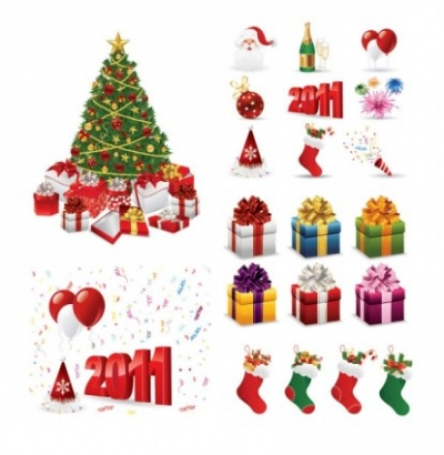 Free vector Vector Christmas  2011 christmas element vector