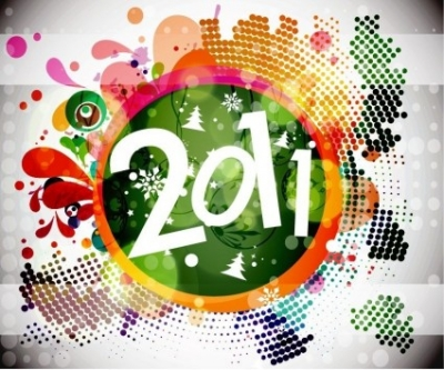 Free vector Vector floral  2011 New Year Floral Backgound Vector Graphic