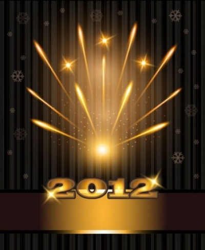Free vector Vector background  2012 bright fireworks background 01 vector