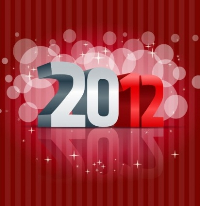 Free vector Vector misc  2012 Happy New Year Vector Illustration
