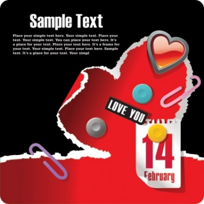 Free vector Vector Heart  214 valentine day theme vector