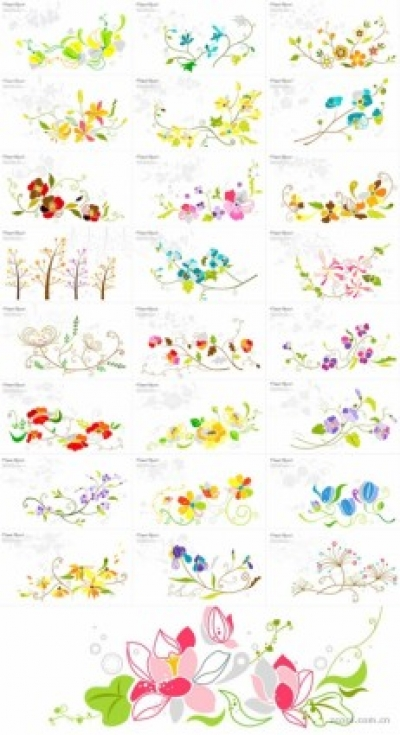 Free vector Vector pattern  25 floral pattern vector