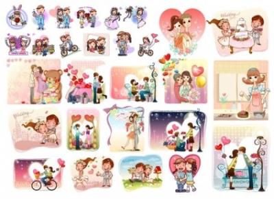 Free vector Vector misc  28 love theme vector