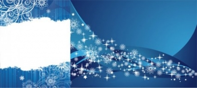 Free vector Vector background  2 blue snowflake background vector