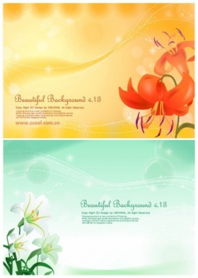 Free vector Vector background  2 lilies and background vector