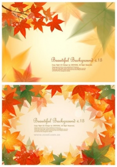 Free vector Vector background  2 maple leaf background vector