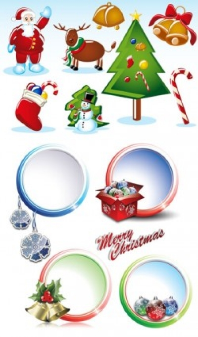 Free vector Vector Christmas  2 sets of christmas vector
