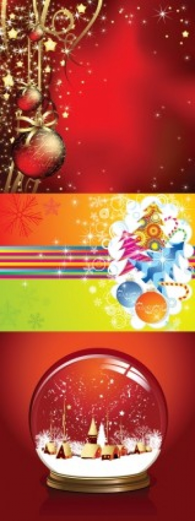 Free vector Vector Christmas  3 beautiful christmas vector