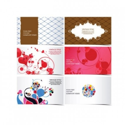 Free vector Vector pattern  3 beautiful stylish business card template pattern vector