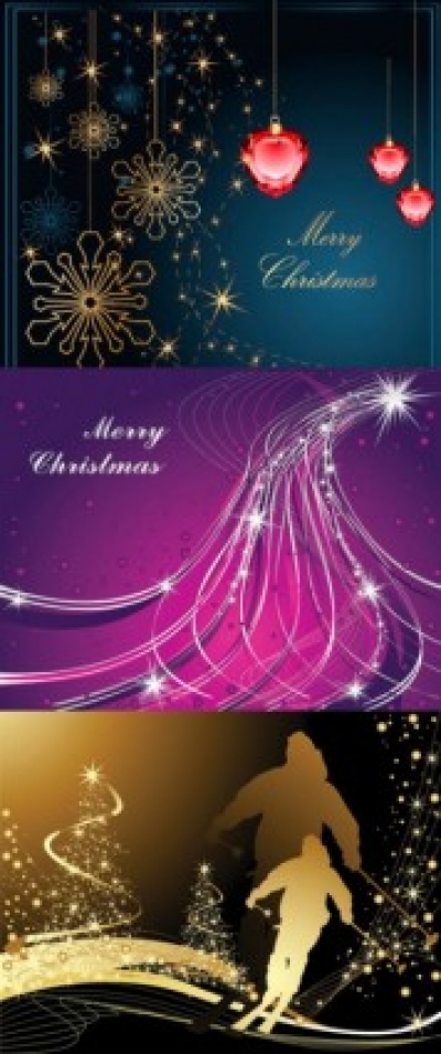 Free vector Vector background  3 christmas vector background