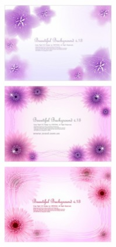 Free vector Vector flower  3 dynamic flower background vector