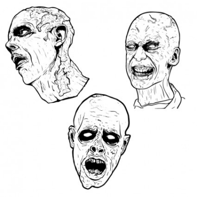 Free vector Vector people  3 Free Illustrated Scary Zombie Vector Graphics