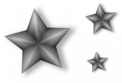 Free vector Vector clip art  3 Metal Stars with Transparency