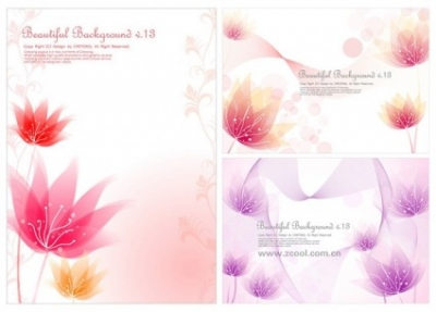 Free vector Vector flower  3 small flower background vector dream
