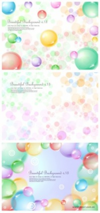Free vector Vector background  3 transparent sphere background vector