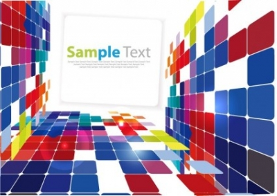 Free vector Vector background  3D Square Background Vector