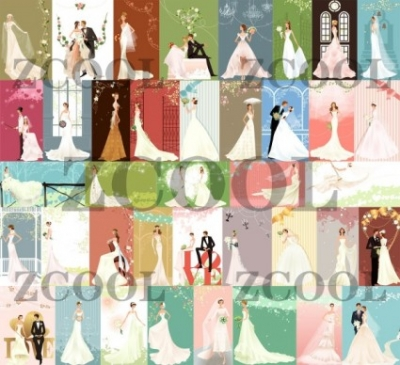 Free vector Vector misc  40 zhang meili wedding bride vector