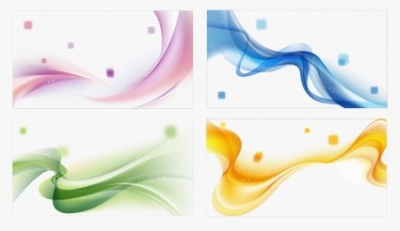 Free vector Vector abstract  4 Colors Abstract Waves Background Vector Set