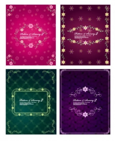Free vector Vector pattern  4 lovely lace pattern vector fashion