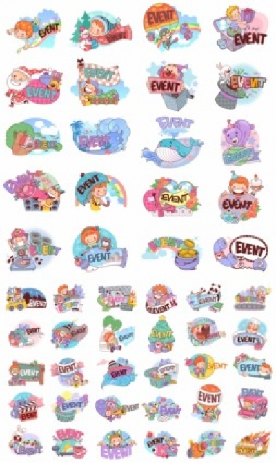 Free vector Vector cartoon  50 clip art cartoon character scenes