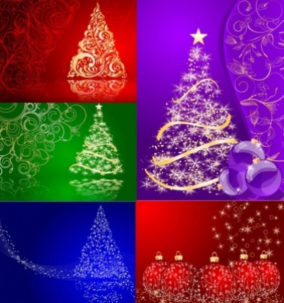 Free vector Vector background  5 christmas vector background