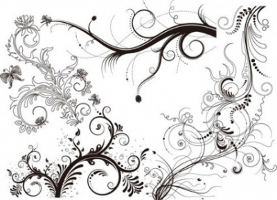 Free vector Vector floral  5 Floral Ornaments Vector Pack