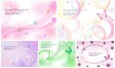 Free vector Vector background  5 lines of the butterfly and the background vector