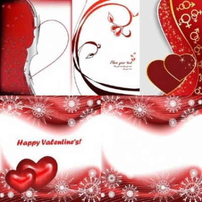 Free vector Vector Heart  5 red peach heart day clip art