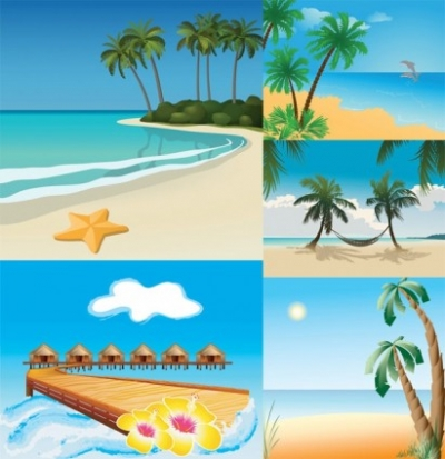 Free vector Vector misc  5 seaside scenery vector