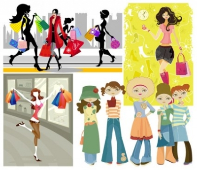 Free vector Vector misc  5 vector fashion shopping girl