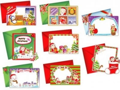 Free vector Vector Christmas  8 Lovely Christmas Vector Cards