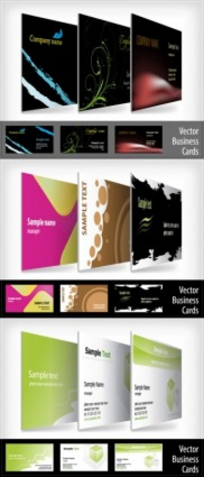 Free vector Vector misc  9 beautifully designed card templates vector