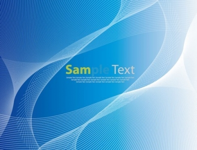 Abstract Blue Background with Wave Vector Graphic
