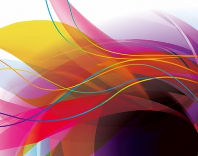 Abstract Colorful Wave Lines Background Vector