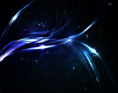 Abstract Glowing Light Dark Blue Vector Background