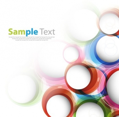 Abstract Illustration with Colorful Circles Vector Graphic