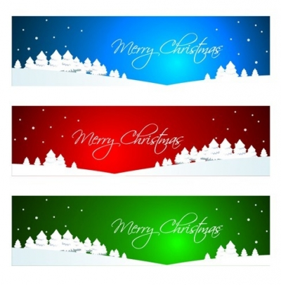 Christmas Banner or Header Vector Graphic
