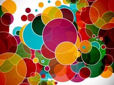 Colorful Circles Abstract Vector Background