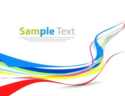 Colorful Curve Abstract Background Vector Graphic