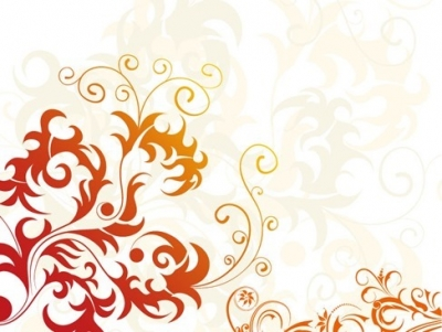 Floral Artistic Background Vector Graphic