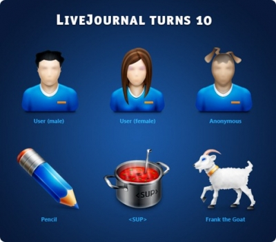 Free Icons:LiveJournal turns 10