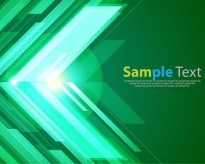Green Abstract Background with Bright Vector Graphic